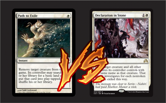 [Versus Cards] Path to Exile vs Declaration in Stone